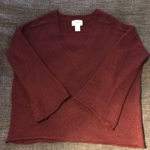 Only worn once Ruby Moon v-neck sweater Sz XL